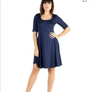 NWOT 24seven comfort apparel 3/4 sleeve dress